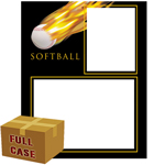 C86-2  Softball Fireball Memory-Mates 3ply Full Case of 100