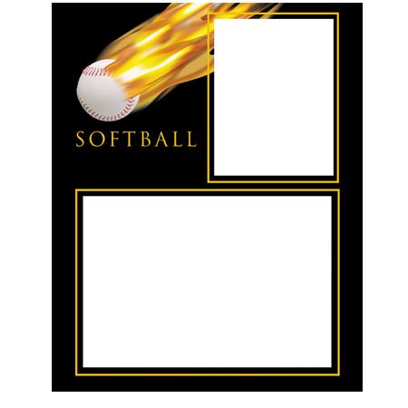 Softball Fireball Memory Mates 3ply Full Case