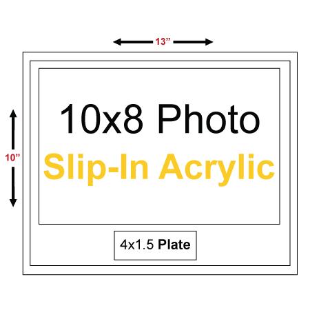 13x10 budget appreciation plaque with 10x8 slip in acrylic