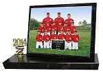 BT75 7x5 Team or Group Photo Black Marble Trophy AVAILABLE BY PHONE ONLY