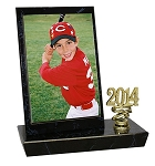 BT35 3.5 x 5 Photo Black Marble Trophy  AVAILABLE BY PHONE ONLY
