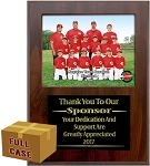 K275 9x11 Slotted Appreciation Plaque For 7x5 Group Photo w/ Laser Engraved Plate Case of 20