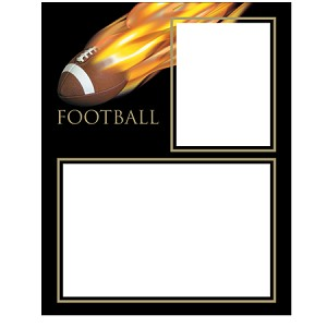 Football fireball memory mate easel frame
