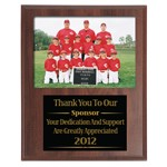 275 9x11 Slotted Appreciation Plaque For 7x5 Group Photo w/ Laser Engraved Plate