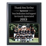 281 9x12 Black Deluxe Appreciation Plaque with Slip-in Acrylic