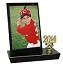 853 3.5 x 5 Photo Black Marble Trophy