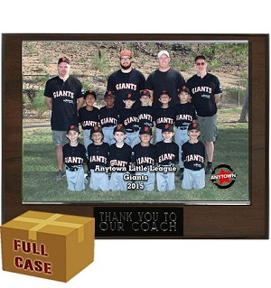 BUD0 9x7 Budget Appreciation Plaque with 7x5 Slip In Acrylic Case- 20